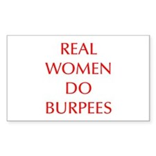 REAL-WOMEN-DO-BURPEES-OPT-RED Decal