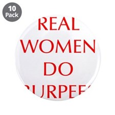 """REAL-WOMEN-DO-BURPEES-OPT-RED 3.5"""" Button (10 pack"""