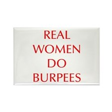 REAL-WOMEN-DO-BURPEES-OPT-RED Magnets