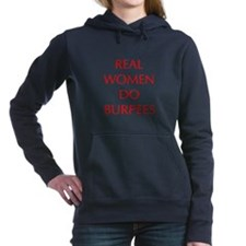 REAL-WOMEN-DO-BURPEES-OPT-RED Women's Hooded Sweat