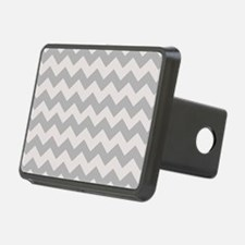 Shades of Gray Chevron Stripes Hitch Cover