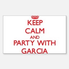 Keep calm and Party with Garcia Decal