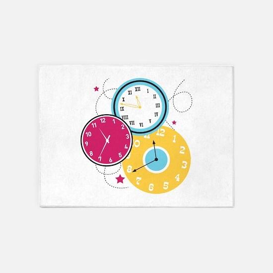 Clocks 5'x7'Area Rug