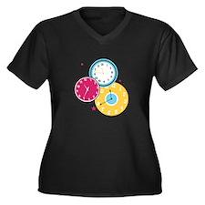 Clocks Plus Size T-Shirt