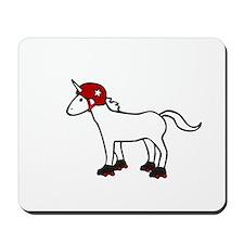 Roller Derby Unicorn Mousepad