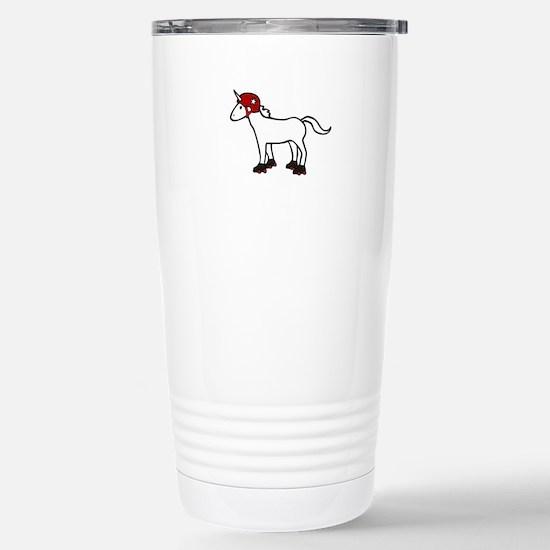 Roller Derby Unicorn Stainless Steel Travel Mug