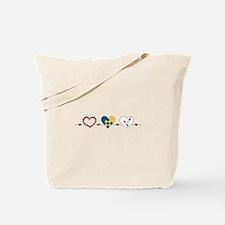 Scandinavian Hearts Tote Bag
