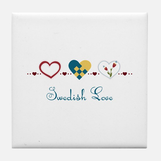 Swedish Love Tile Coaster