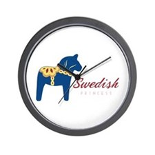 Swedish Princess Wall Clock