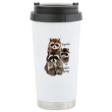 Together we make a Family Cute Raccoon Fun Quote T