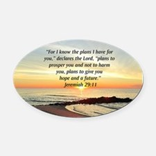 ISAIAH 41:10 Oval Car Magnet