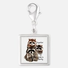 Together We Make A Family Cute Raccoon Fun Charms