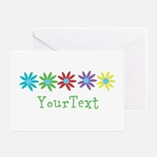 Personalize Flowers Greeting Cards