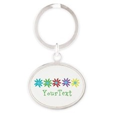 Personalize Flowers Keychains