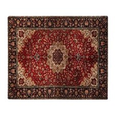 Persian Rug Throw Blanket