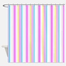 Sumertime Stripes Shower Curtain