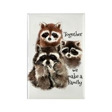 Together We Make A Family Cute Raccoon Fun Magnets