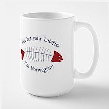 You Bet Your Lutefisk I'm Norwegian! Mugs