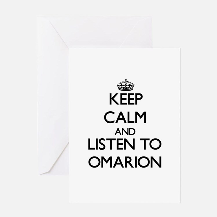 Keep Calm and Listen to Omarion Greeting Cards