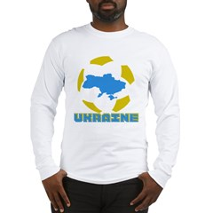 Ukraine Futbol Long Sleeve T-Shirt