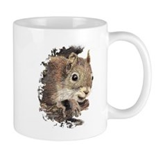 Cute Watercolor Squirrel Animal Nature Art Mugs