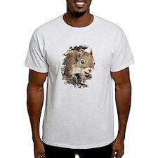 Cute Watercolor Squirrel Animal Nature Art T-Shirt