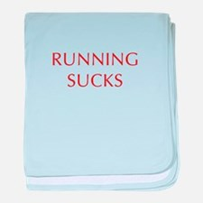 RUNNING--OPT-RED baby blanket