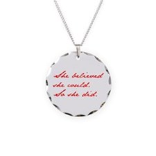 SHE-BELIEVED-SHE-COULD-jan-red Necklace