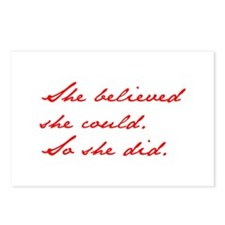 SHE-BELIEVED-SHE-COULD-jan-red Postcards (Package