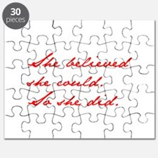 SHE-BELIEVED-SHE-COULD-jan-red Puzzle