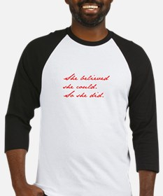 SHE-BELIEVED-SHE-COULD-jan-red Baseball Jersey