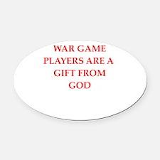 war game Oval Car Magnet