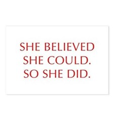 SHE-BELIEVED-SHE-COULD-OPT-RED Postcards (Package