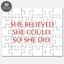 SHE-BELIEVED-SHE-COULD-OPT-RED Puzzle