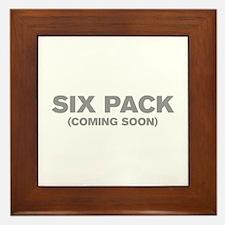 SIX-PACK-COMING-SOON-AKZ-GRAY Framed Tile