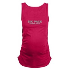 SIX-PACK-COMING-SOON-AKZ-GRAY Maternity Tank Top