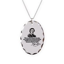 Poe Those Who Dream by Day Necklace Oval Charm