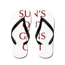 SUNS-OUT-GUNS-OUT-OPT-RED Flip Flops