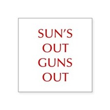 SUNS-OUT-GUNS-OUT-OPT-RED Sticker