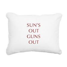 SUNS-OUT-GUNS-OUT-OPT-RED Rectangular Canvas Pillo