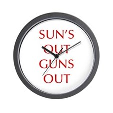 SUNS-OUT-GUNS-OUT-OPT-RED Wall Clock