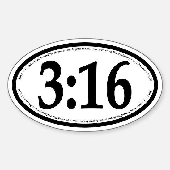 John 3:16 Oval Car Decal