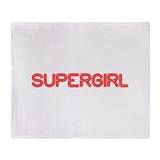 supergirl-so-red Throw Blanket