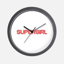supergirl-so-red Wall Clock