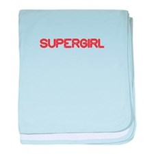 supergirl-so-red baby blanket