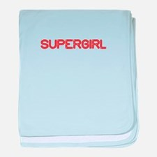 supergirl-so-red baby blanket