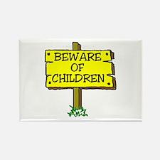BEWARE CHILDREN Rectangle Magnet