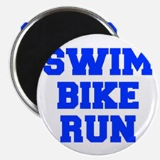 SWIM-BIKE-RUN-FRESH-BLUE Magnets