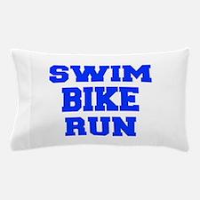 SWIM-BIKE-RUN-FRESH-BLUE Pillow Case