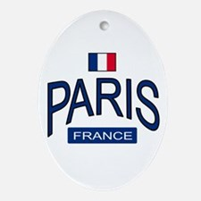 Paris France Oval Ornament